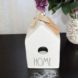 NWT RAE DUNN Birdhouse With Burlap Bow
